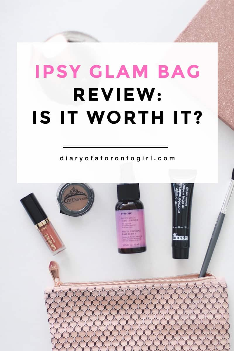 Is the Ipsy Glam Bag worth it? Here's my review of this monthly beauty subscription box and whether it's worth subscribing to!