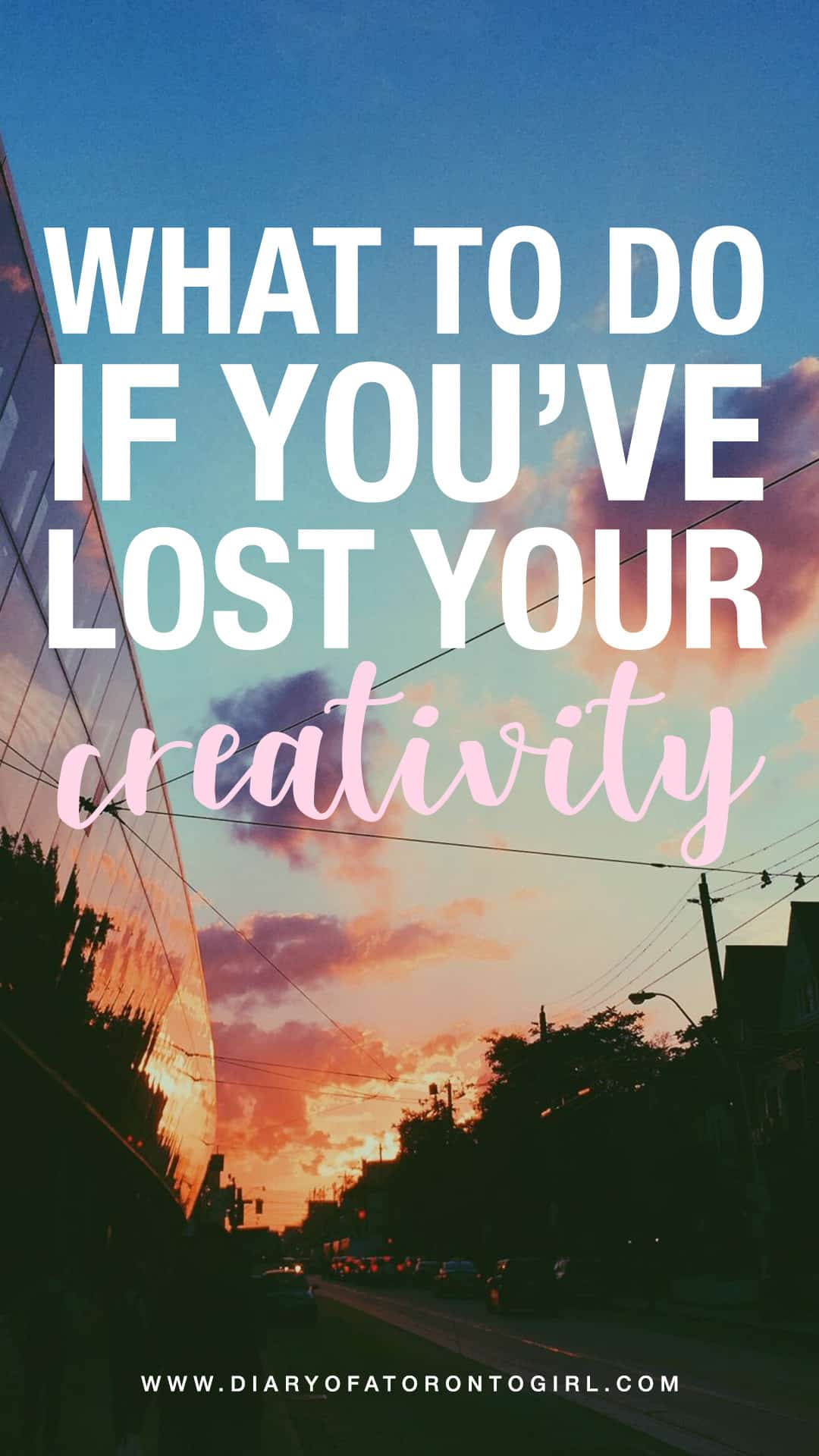Lost your creativity and trying to get it back? Here are tips on how to get out of your block if you've lost your creative spark.