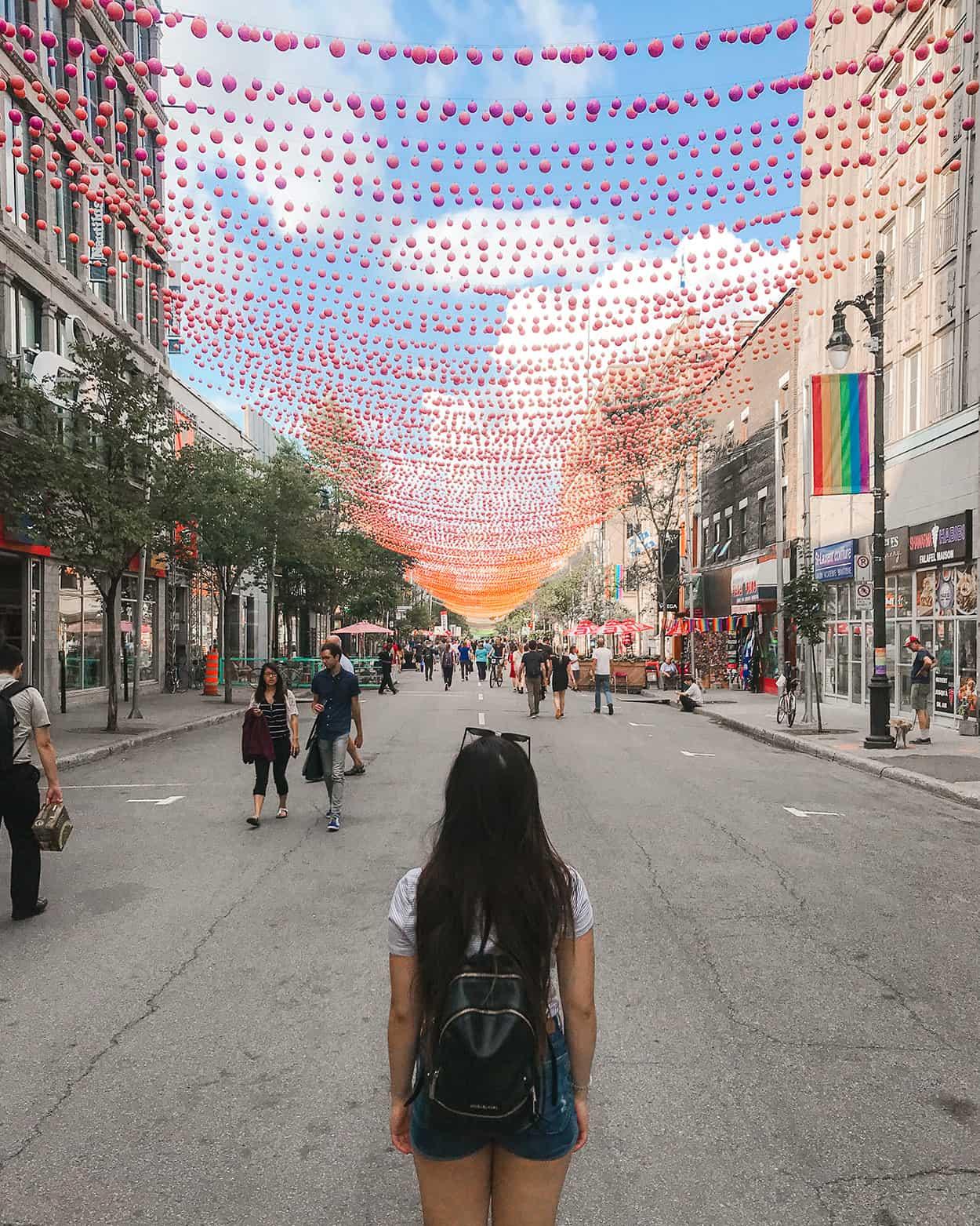 Saint-Catherine Street in the Village, Montreal