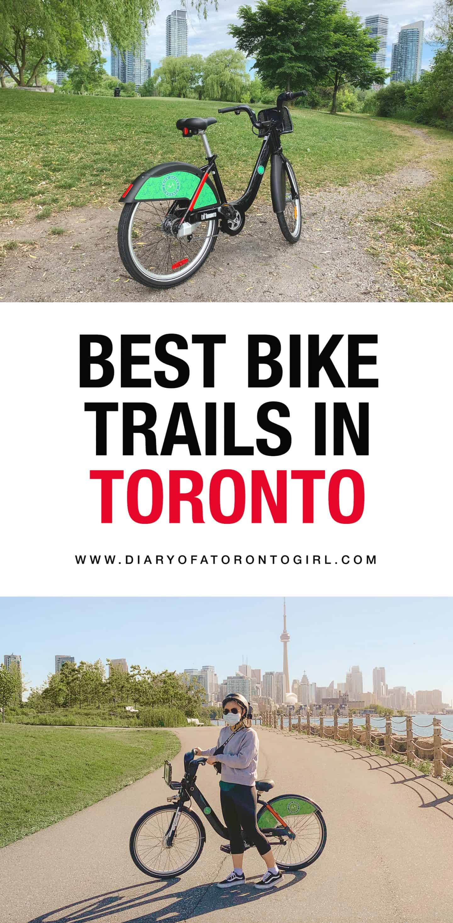 The best bike trails in Toronto whether you're looking for scenic views or good cardio!