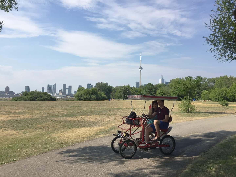 Quadricycle rental on the Toronto Islands
