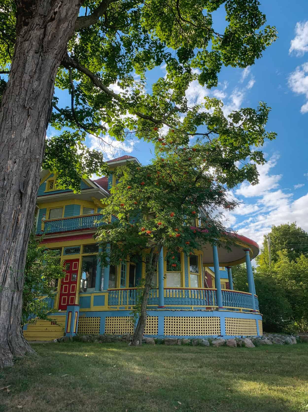 Colourful house in Gananoque, Ontario