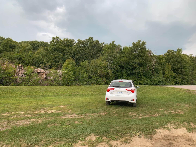 Driving a rental car from Toronto to Gananoque, Ontario