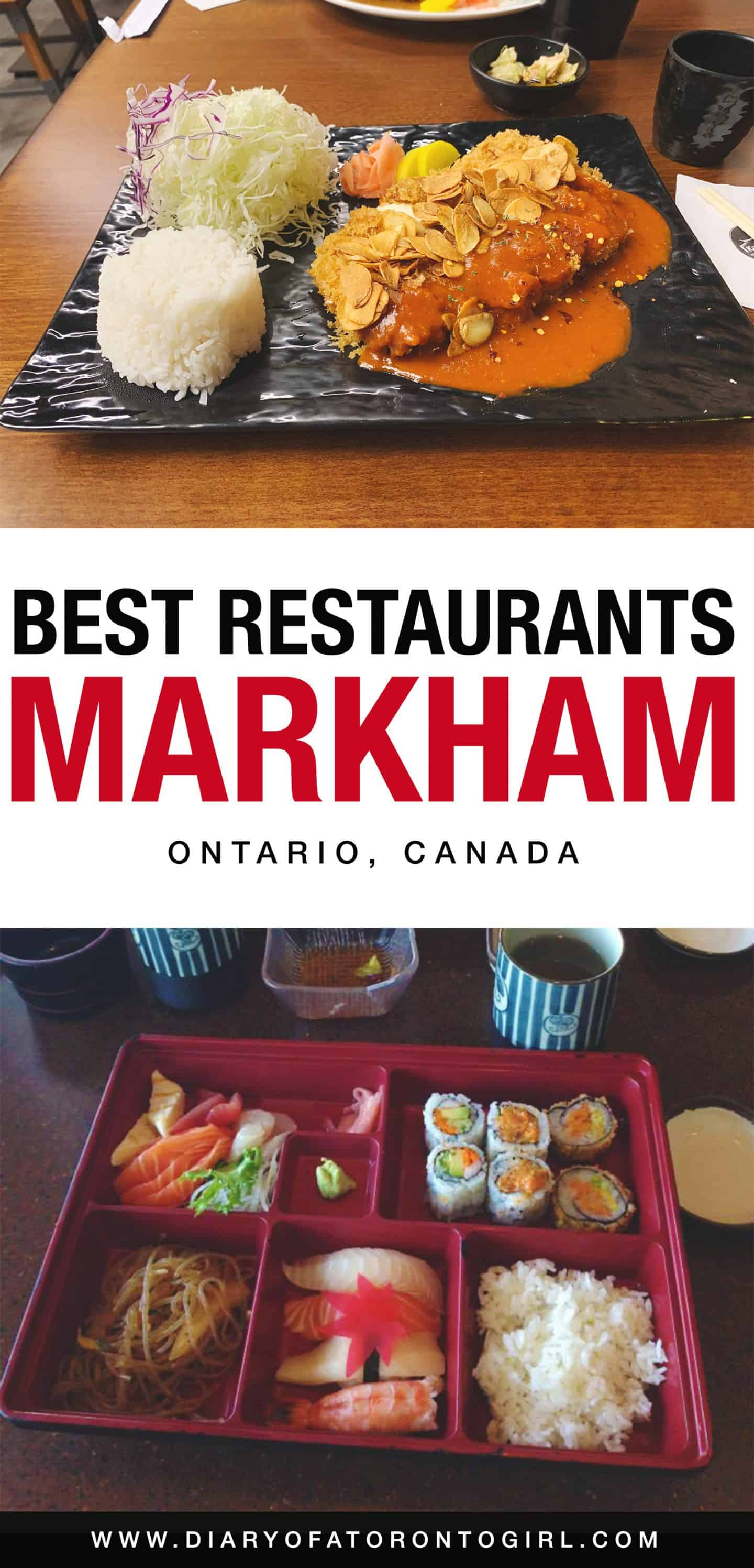 Looking for the best places to eat in Markham? Here are the top restaurants to check out in the city of Markham, Ontario!