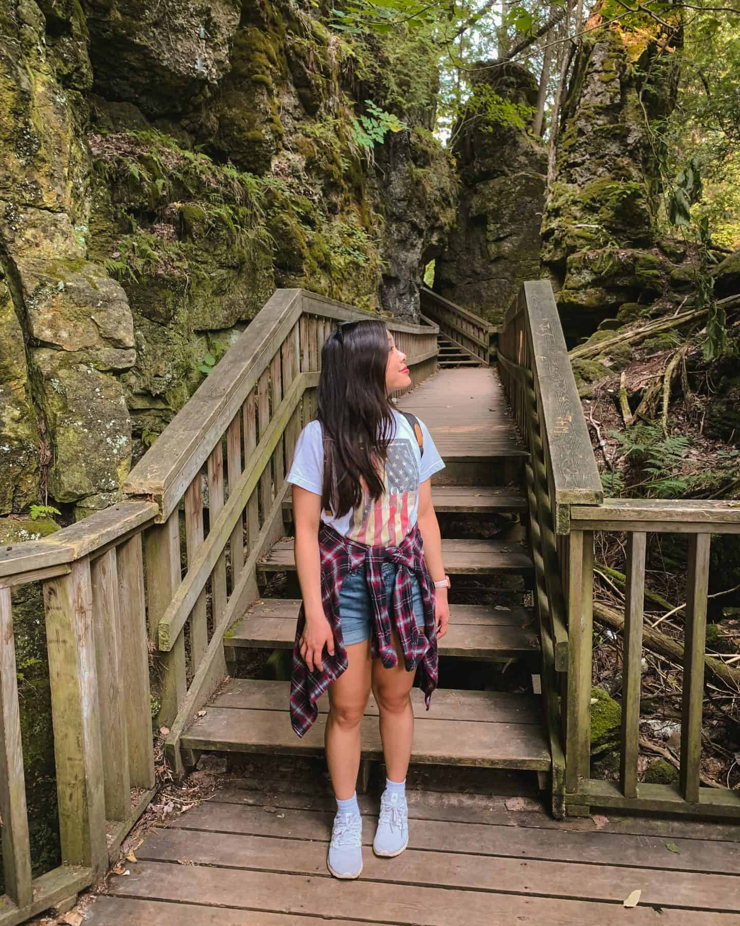 Hike at Mono Cliffs Provincial Park in Orangeville, Ontario
