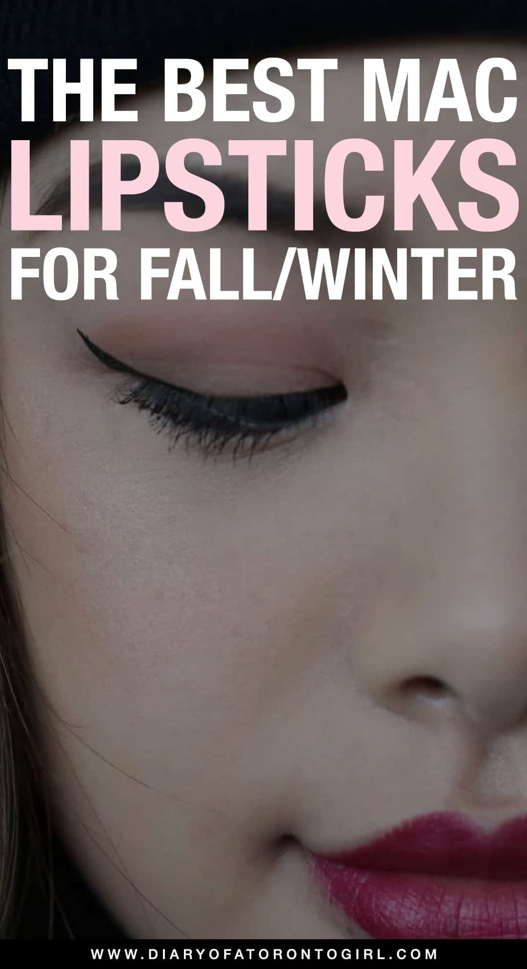 The best MAC lipsticks for the fall and winter seasons! From dark and bold to festive and sparkly, these are my fave MAC lipsticks for the colder months.