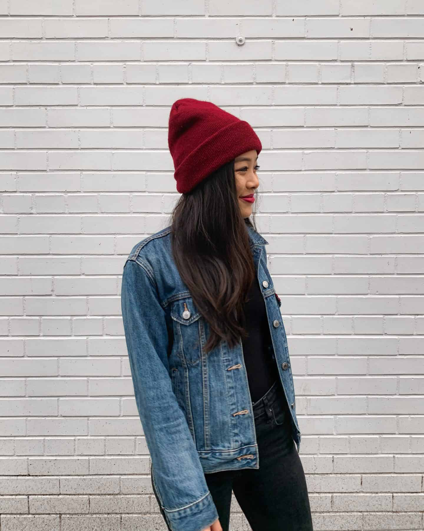 Amazon Fashion outfit - American Apparel beanie and Levi's trucker jacket