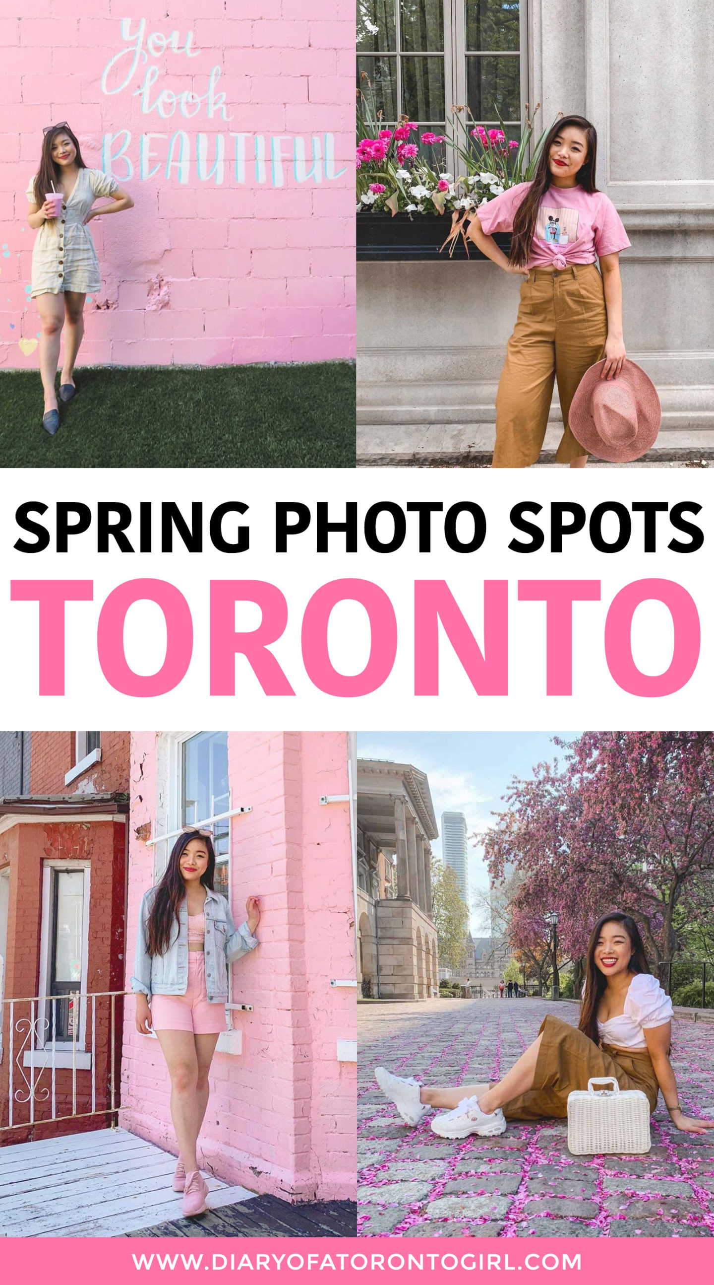 Cute spring photo spots in Toronto