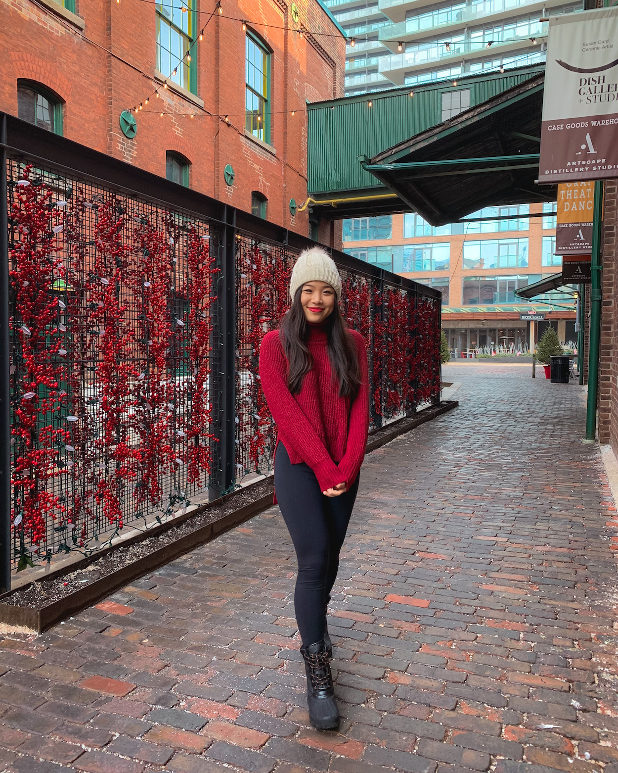 Winter at the Distillery District Toronto