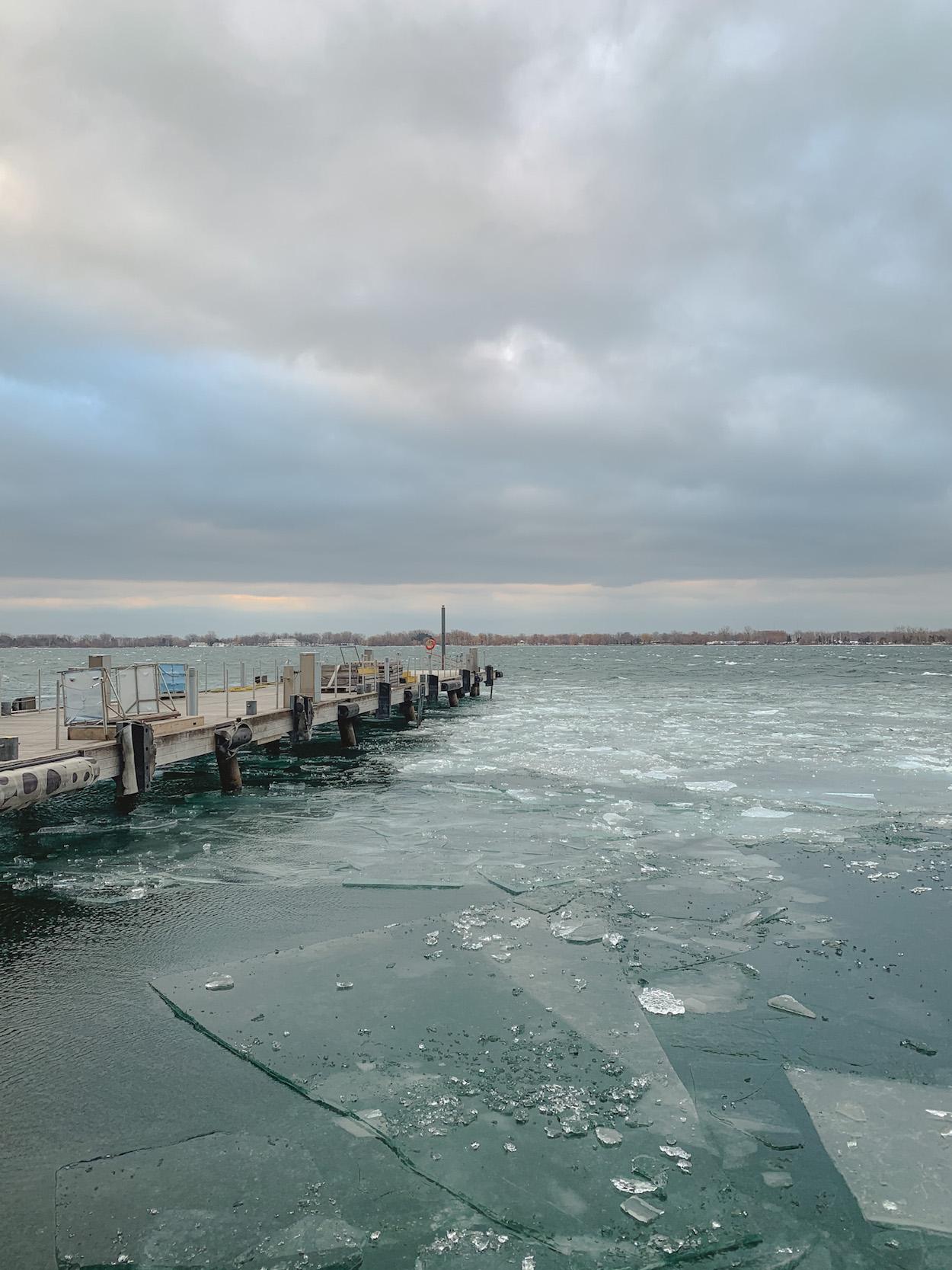 Icy Lake Ontario at Toronto Harbourfront