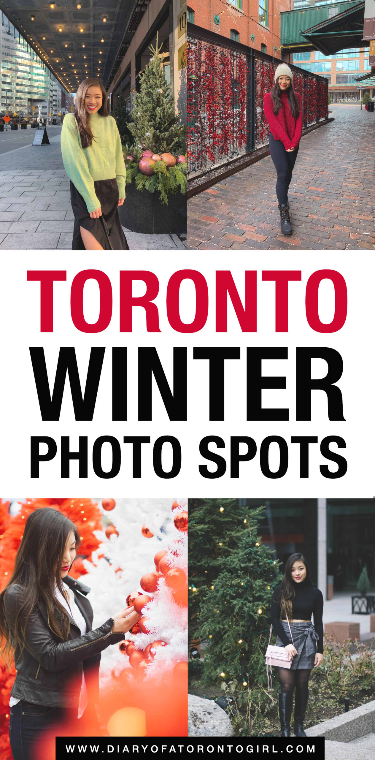 Looking for cool winter photo spots to check out in Toronto? Here are some of the cutest and most Instagram-worthy places to take photos during the winter in Toronto!