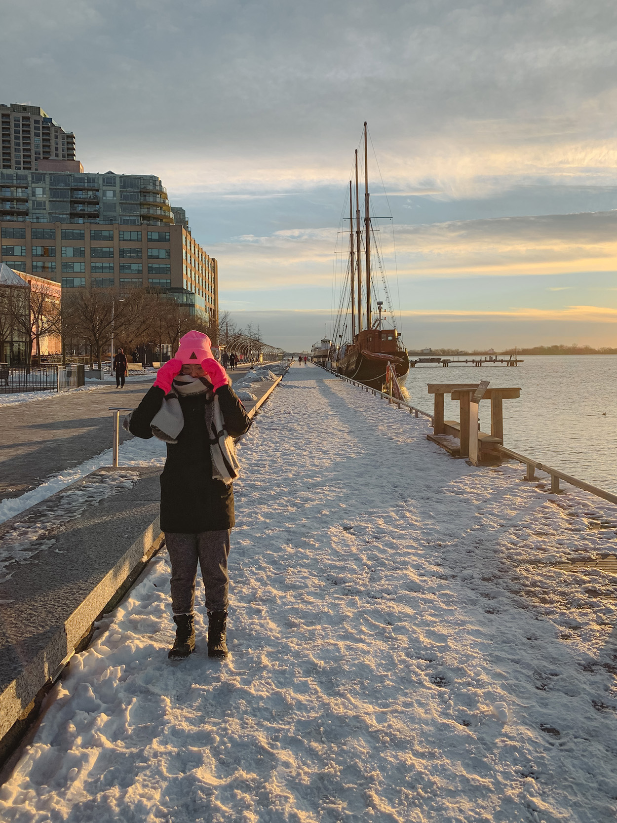 Winter at the Harbourfront Centre in Toronto