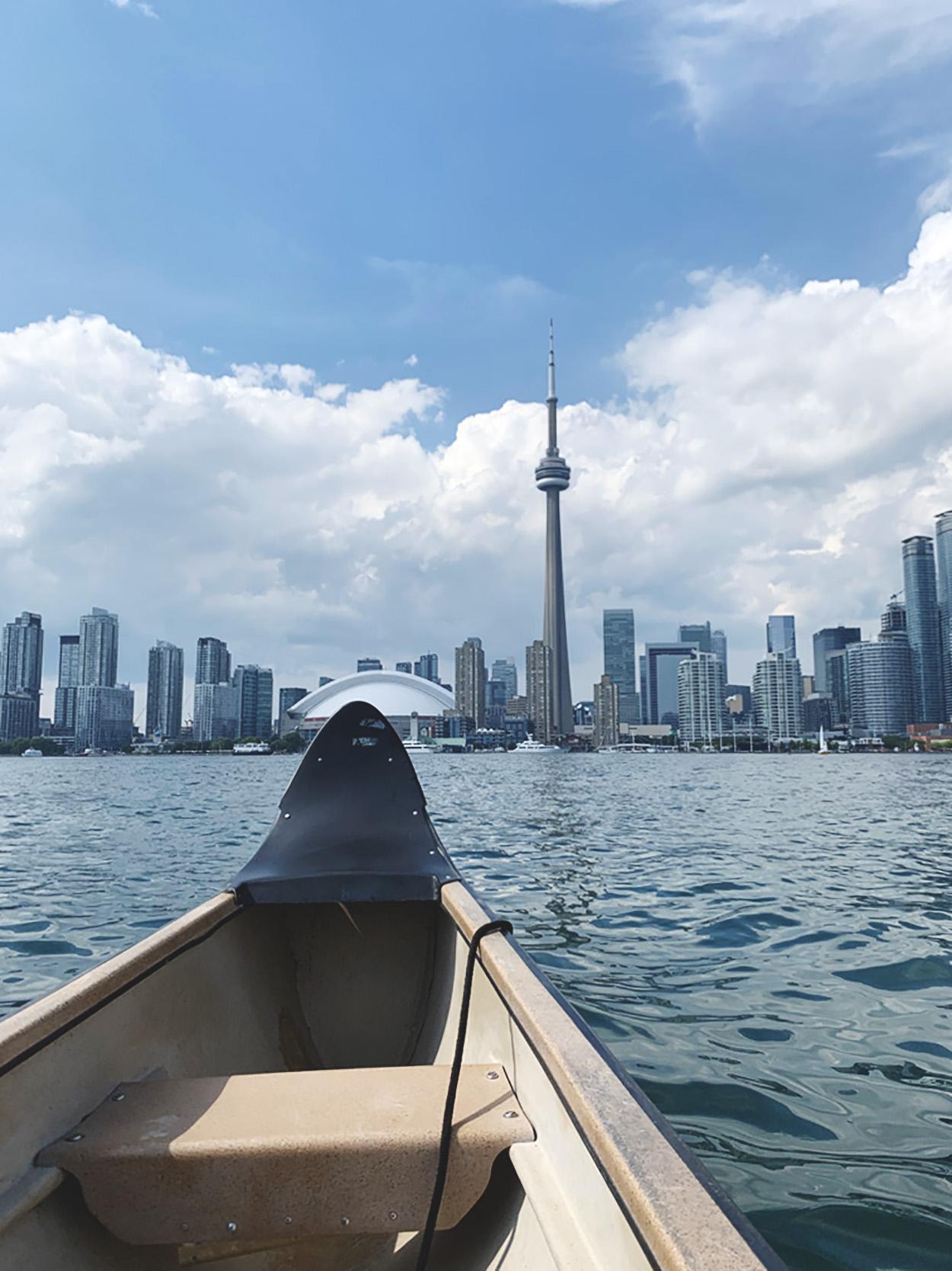 Canoeing on Lake Ontario at Toronto Harbourfront