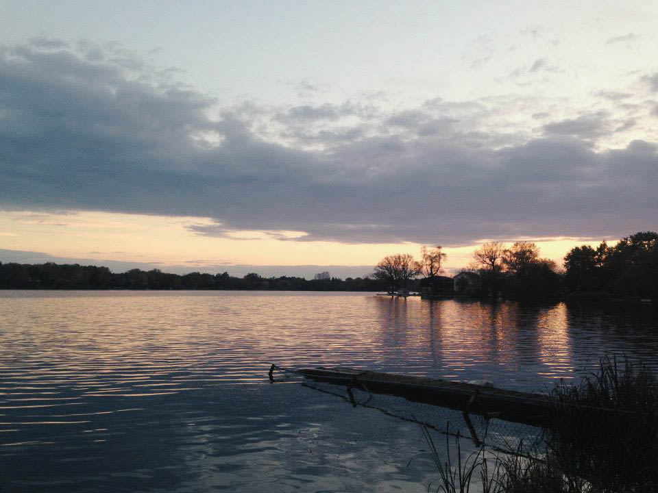Sunset at Lake Wilcox in Richmond Hill, Ontario