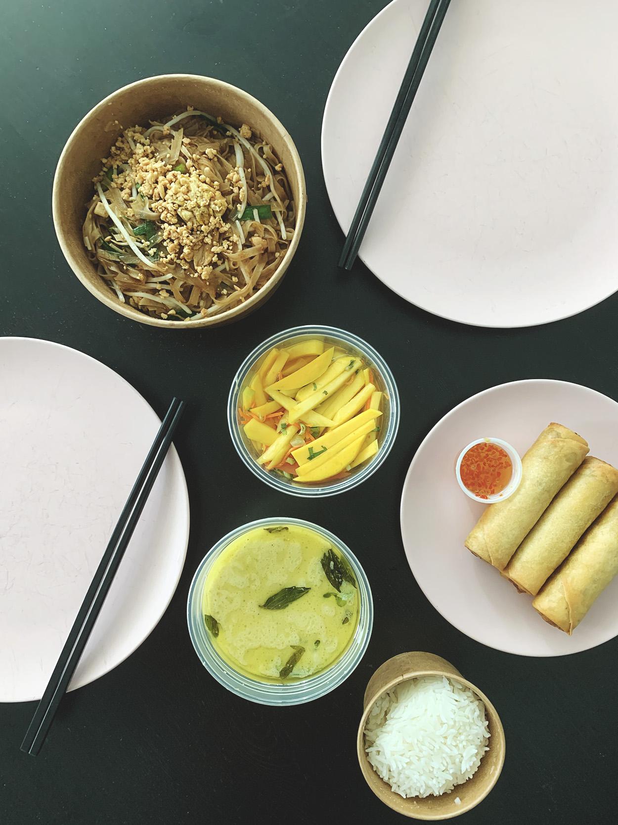 Thai takeout from Sukhothai Restaurant in Toronto