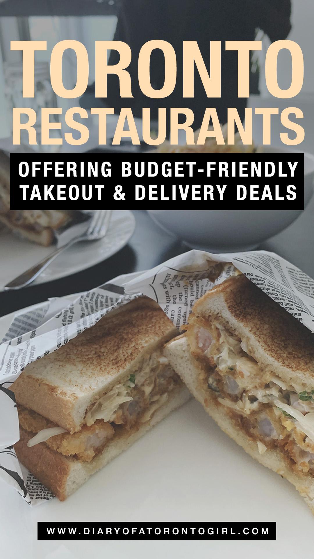 Toronto restaurant deals