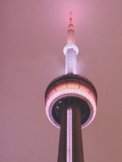 CN Tower at night in Toronto