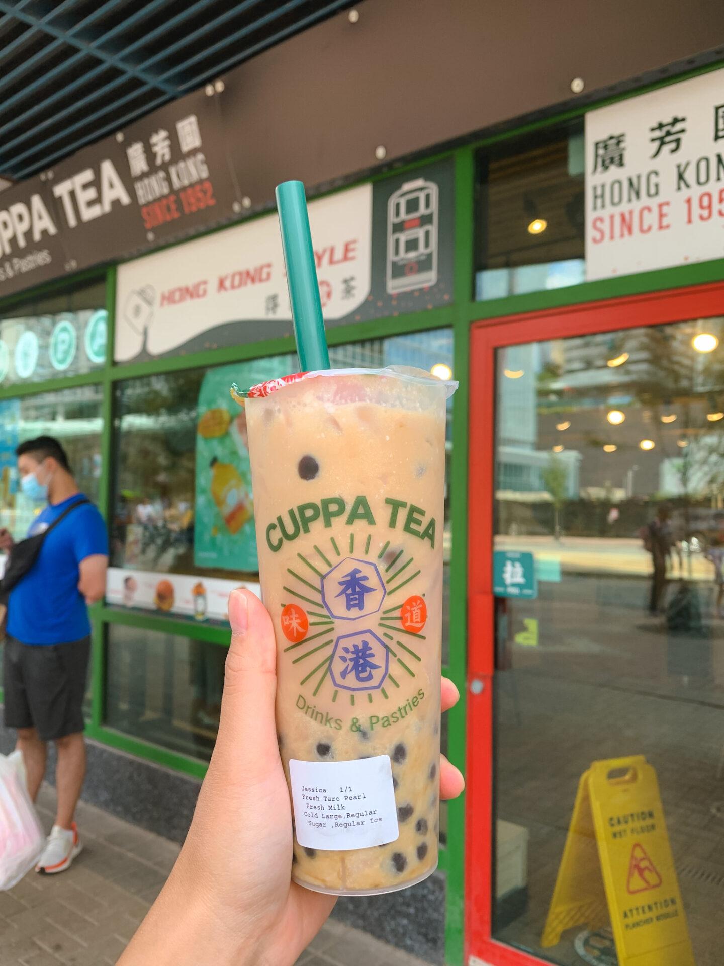 Fresh Taro Pearl Fresh Milk from Cuppa Tea, a Hong Kong-style café and bubble tea spot in Toronto