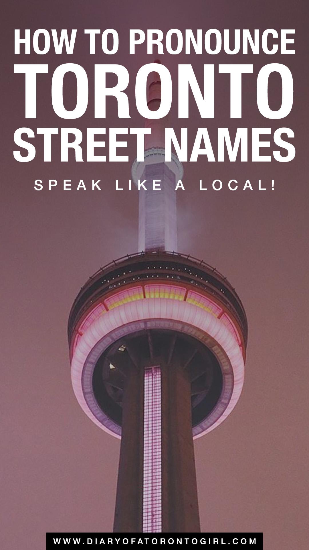 How do you pronounce Toronto?