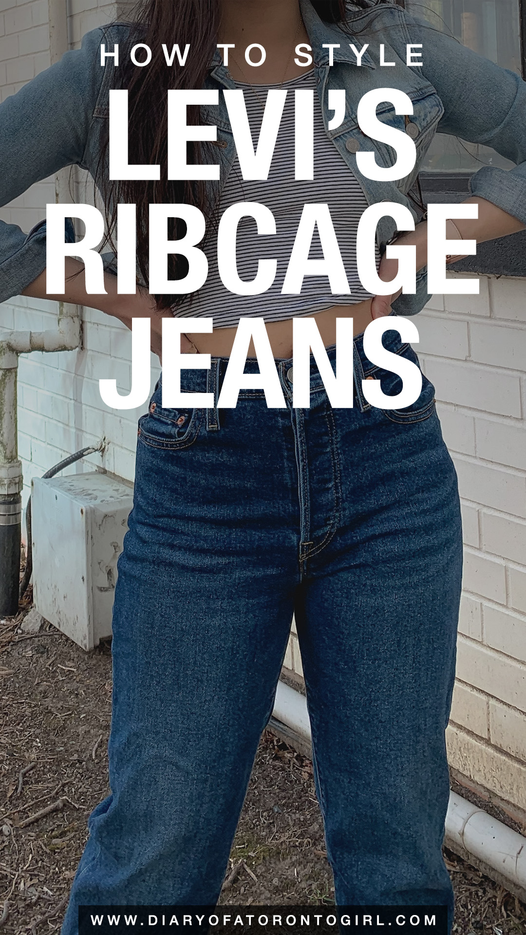 How to style Levi's ribcage jeans