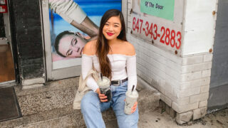 The Alley bubble tea in downtown Toronto