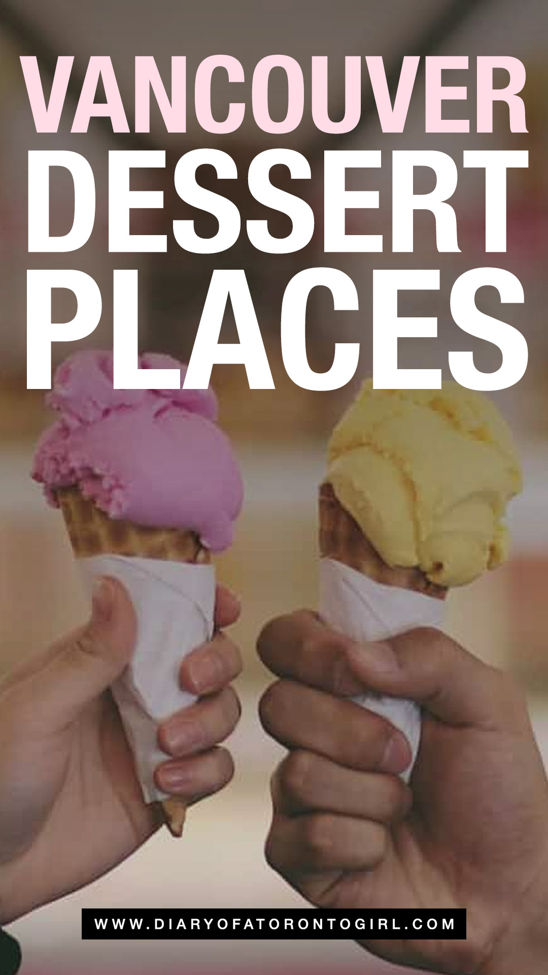 The best dessert places in Vancouver, including everything from fresh scoops of unique ice cream flavours to decadent and handcrafted doughnuts!