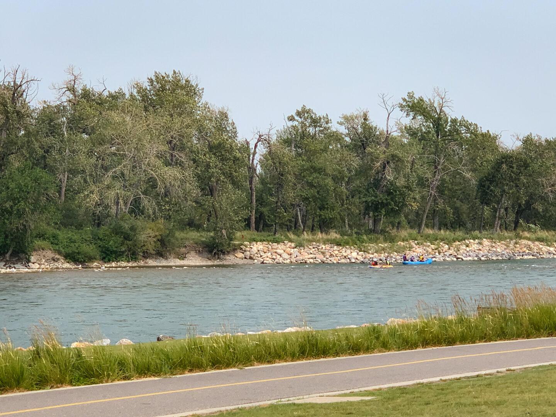 Bow River rafting in downtown Calgary, Alberta