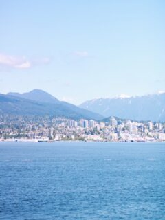 Mountain views from Canada Place in Vancouver, British Columbia