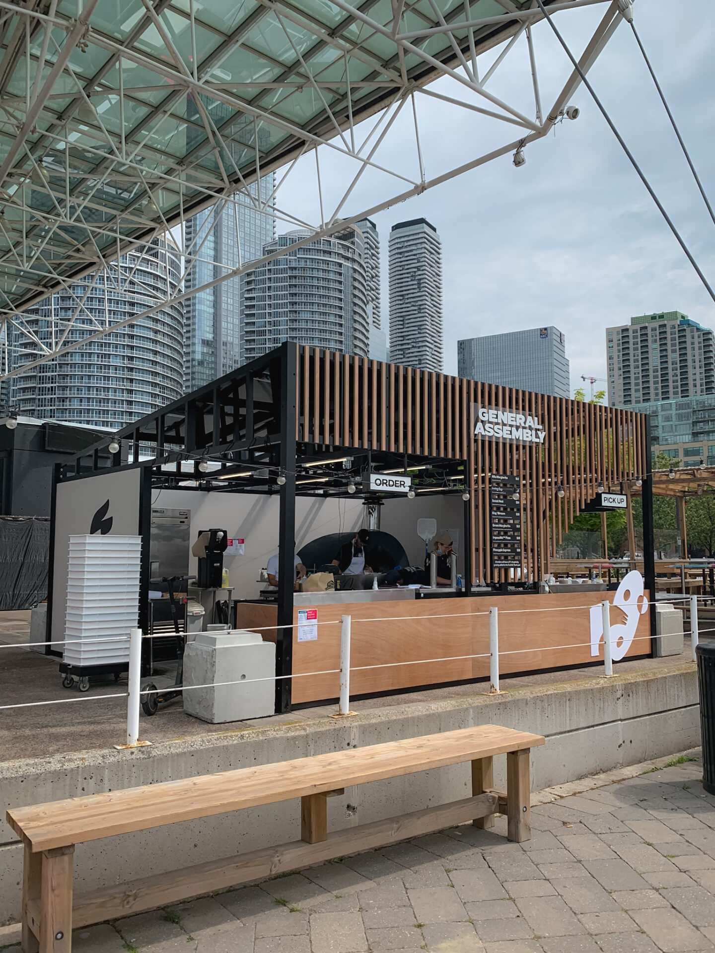 General Assembly Pizza pop-up at The Slip, Harbourfront, Toronto
