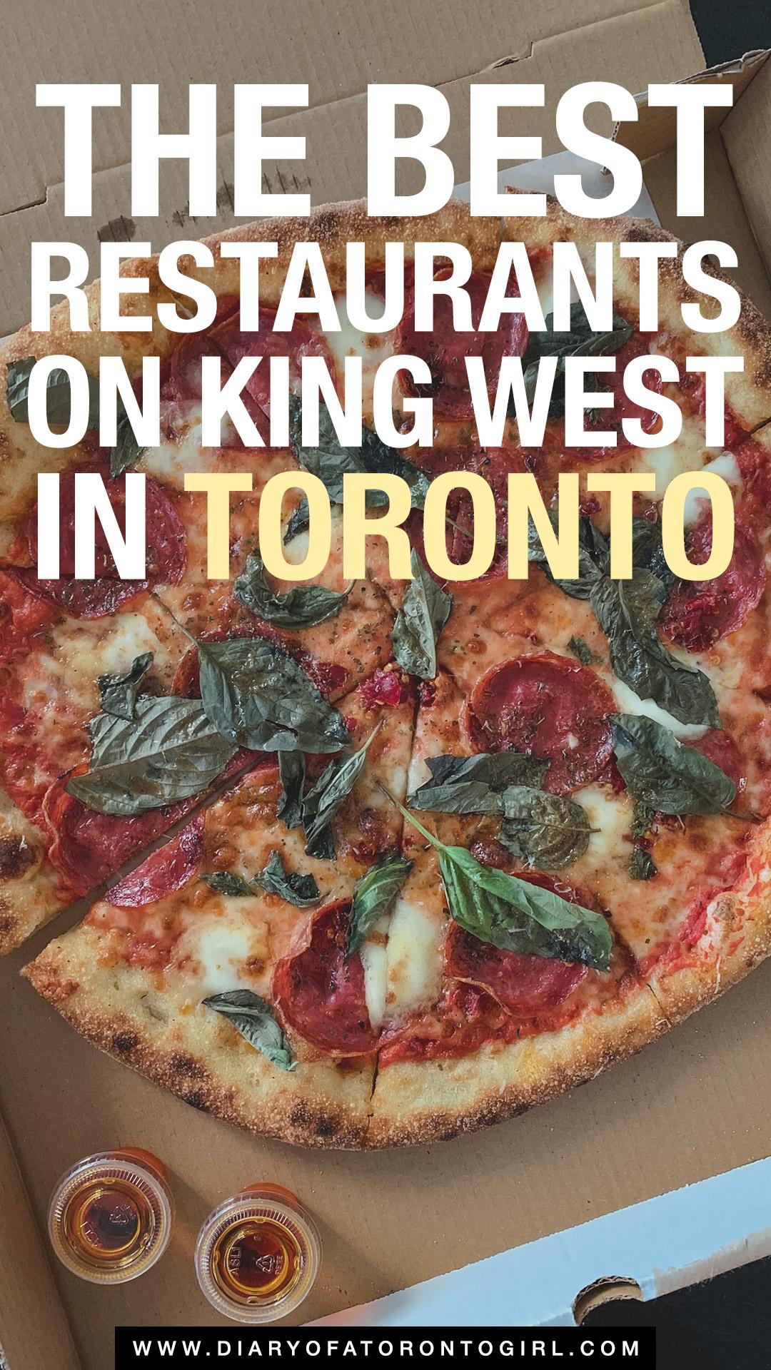 The best restaurants in Toronto's King West neighbourhood
