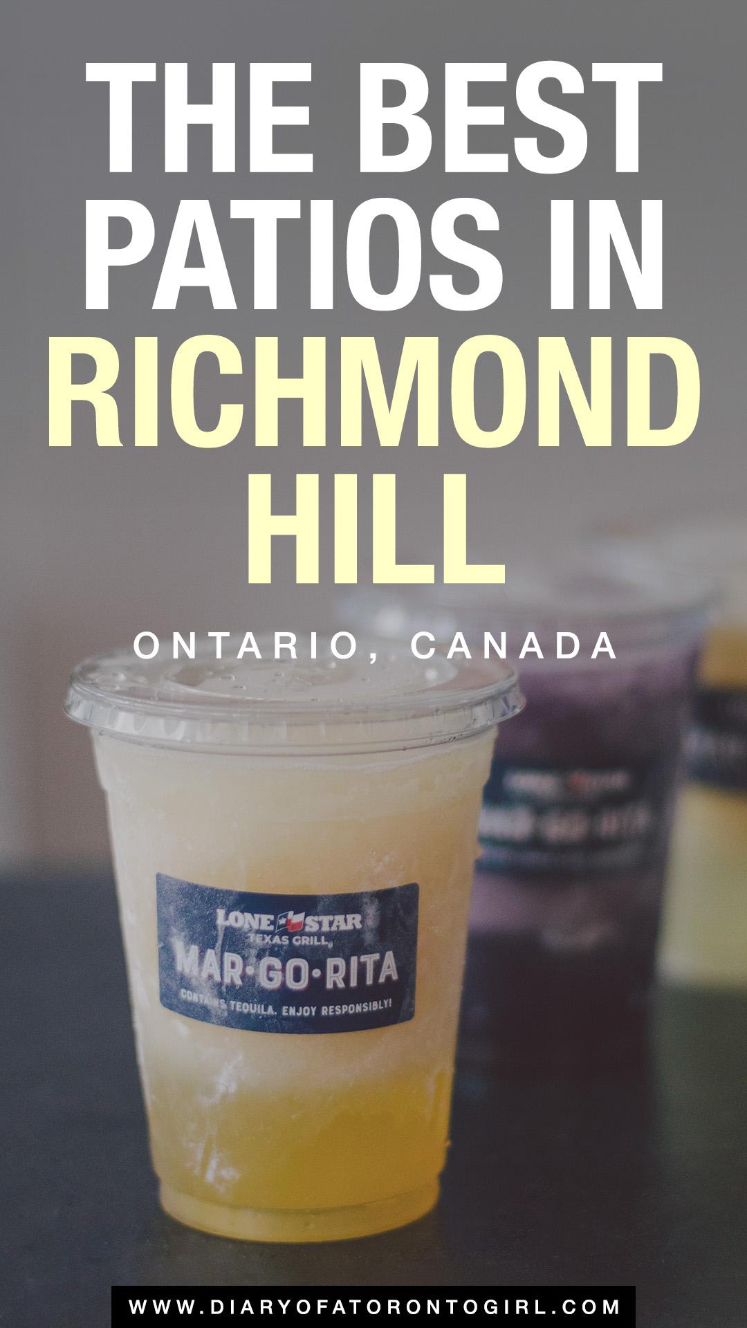 Best patios in Richmond Hill