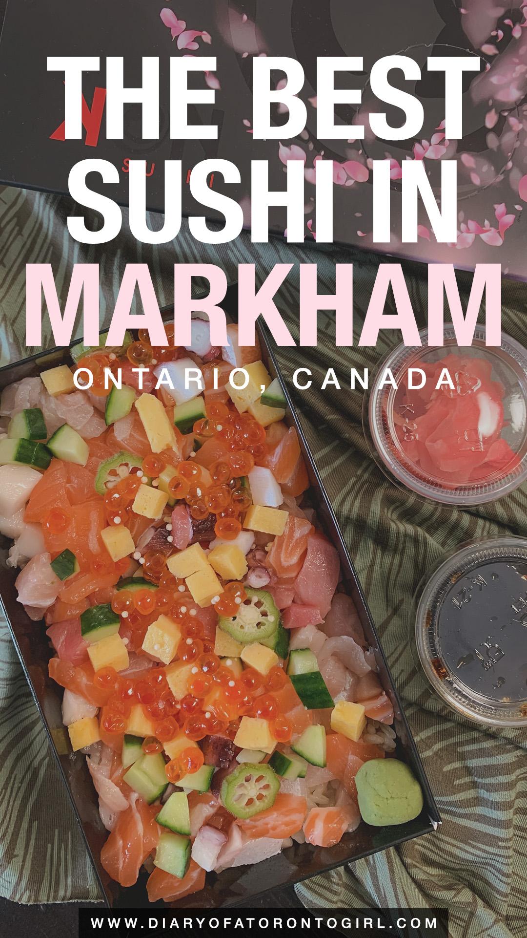 Best sushi restaurants in Markham, Ontario