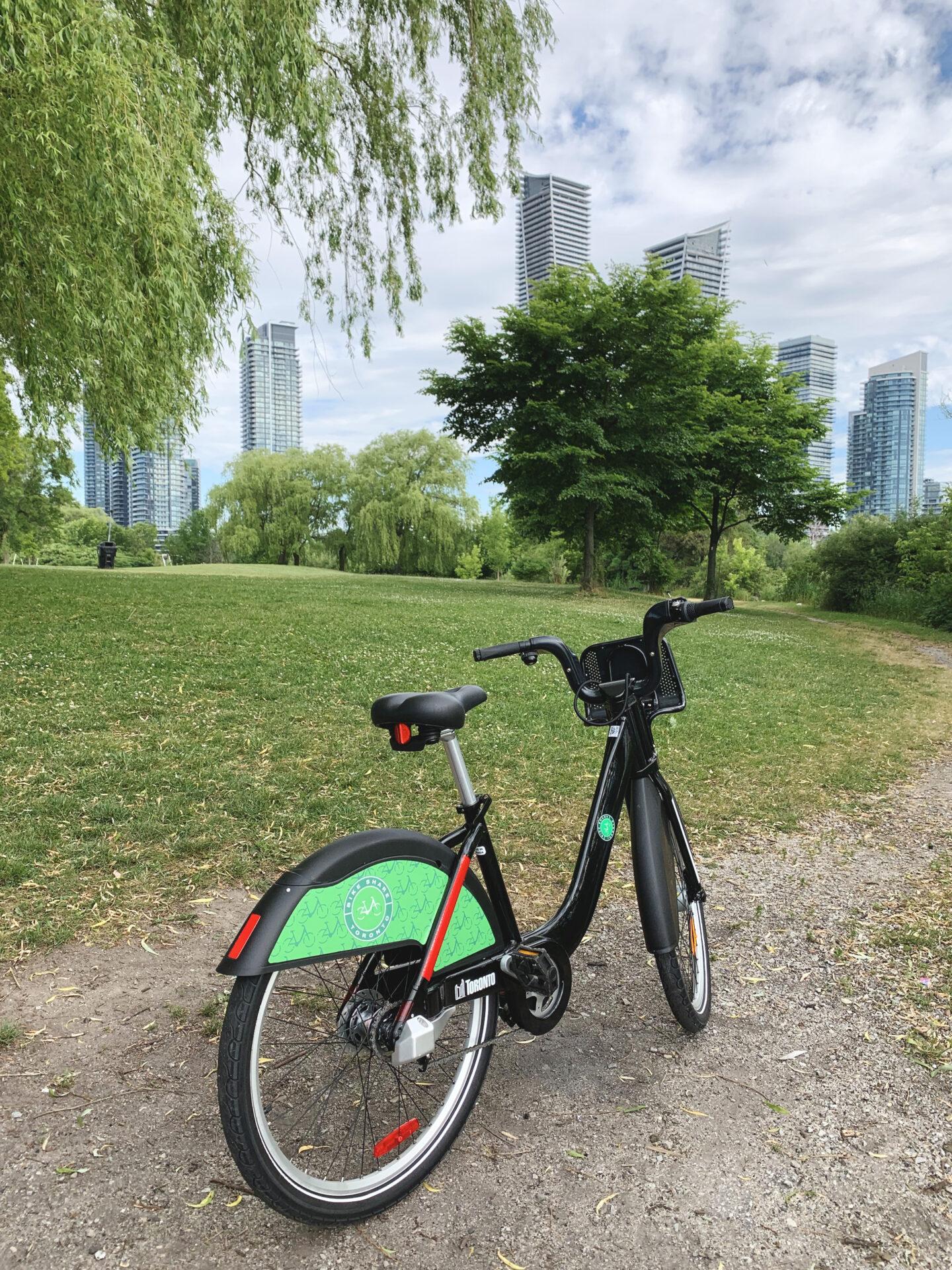 Bike Share rental at Humber Bay Park, Toronto