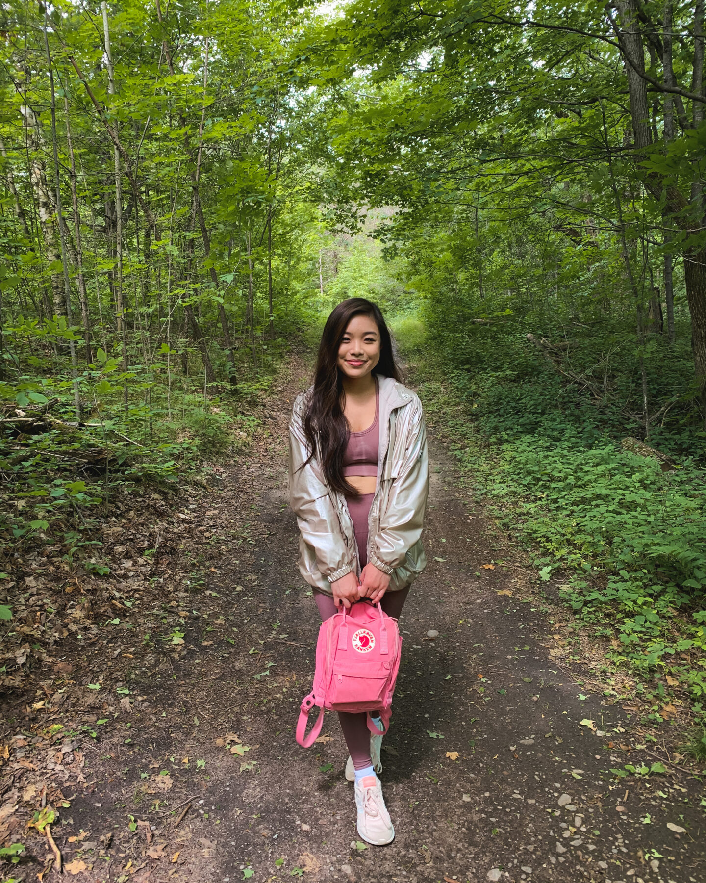 Summer hiking in Long Sault Conservation Area, Bowmanville, Ontario