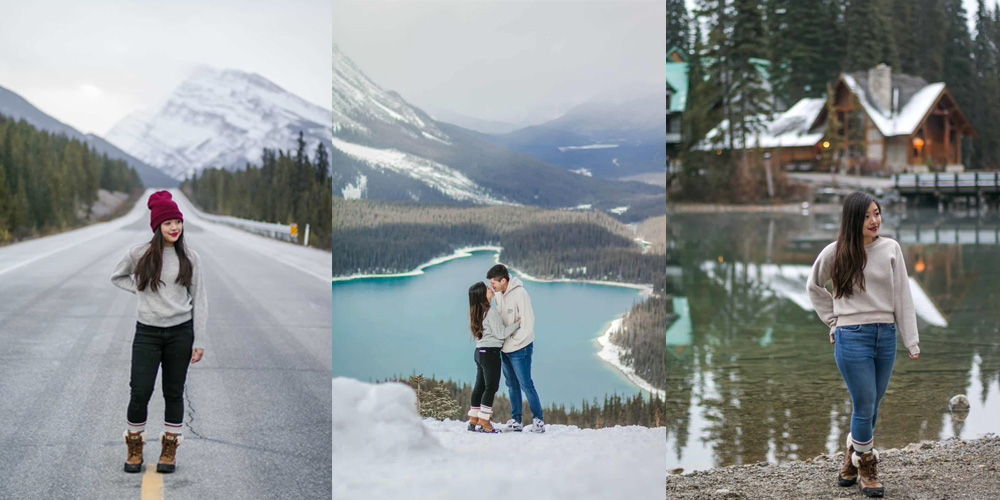 Icefields Parkway in Banff, Peyto Lake in Banff, Emerald Lake in British Columbia