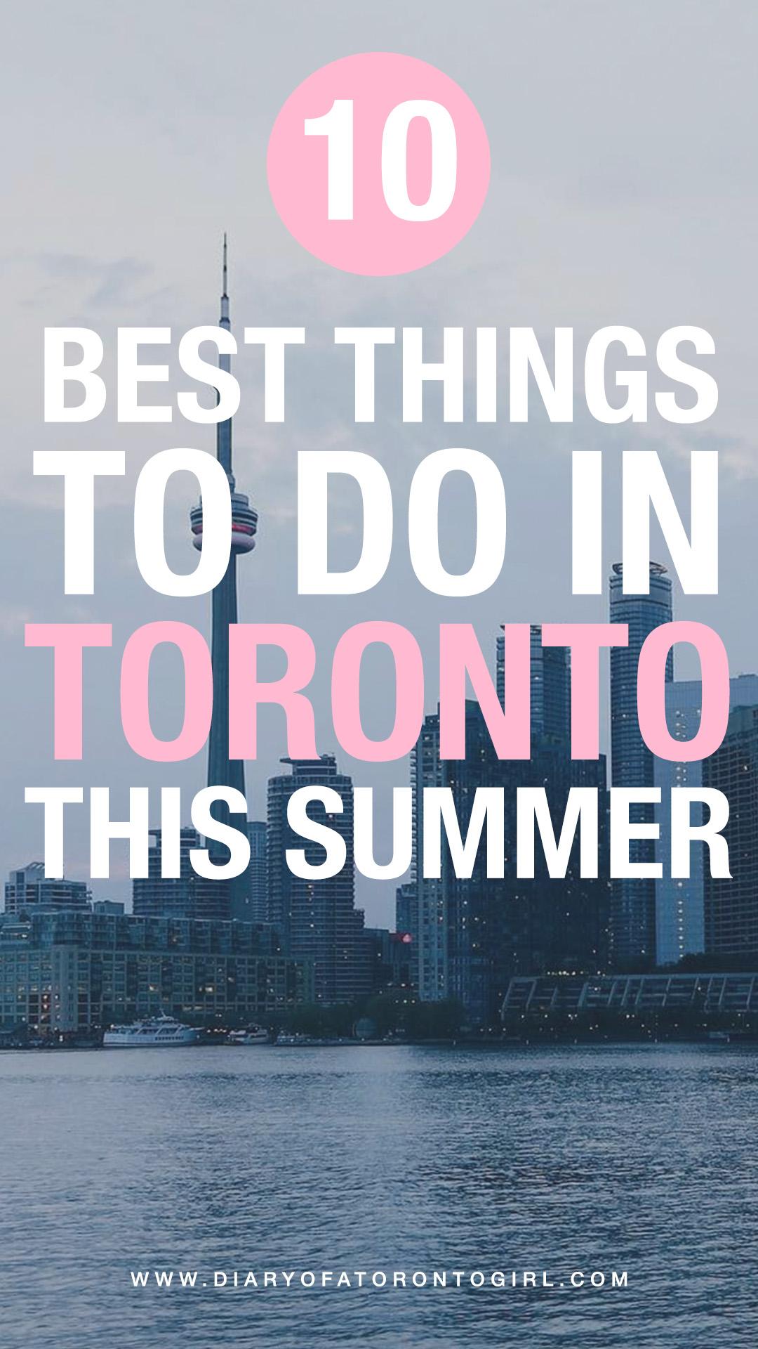 Summer activities in Toronto