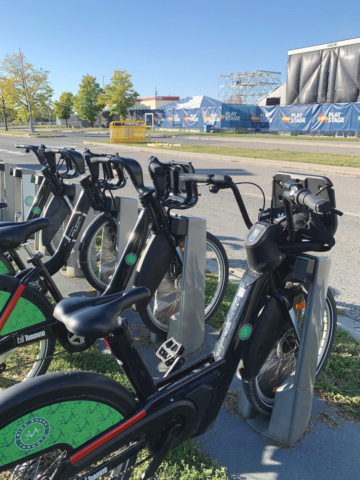 Bike Share electric bike rental at Ontario Place, Toronto