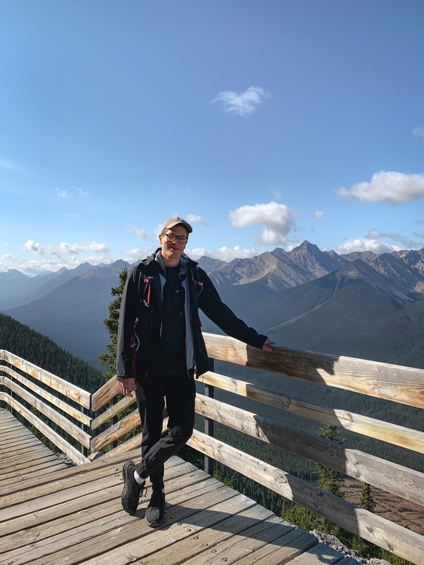 Banff Gondola boardwalk at Sulphur Mountain in the Canadian Rockies, Alberta