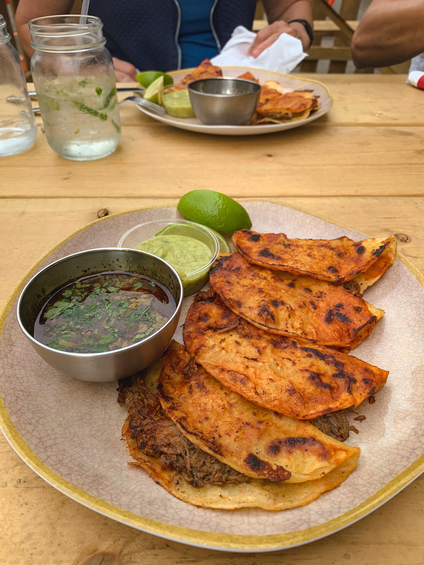 Birria tacos from Spicy Amigos in Calgary, Alberta