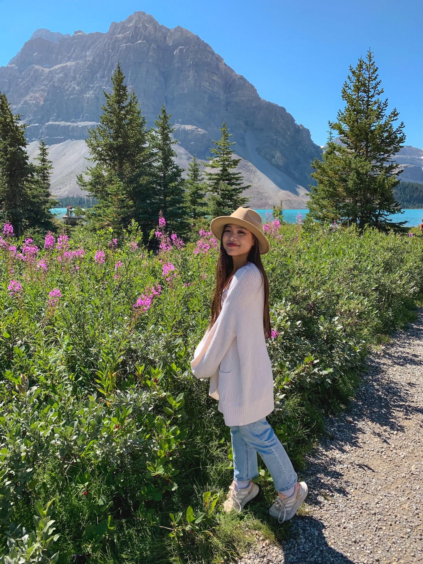 Bow Lake in Banff, Alberta