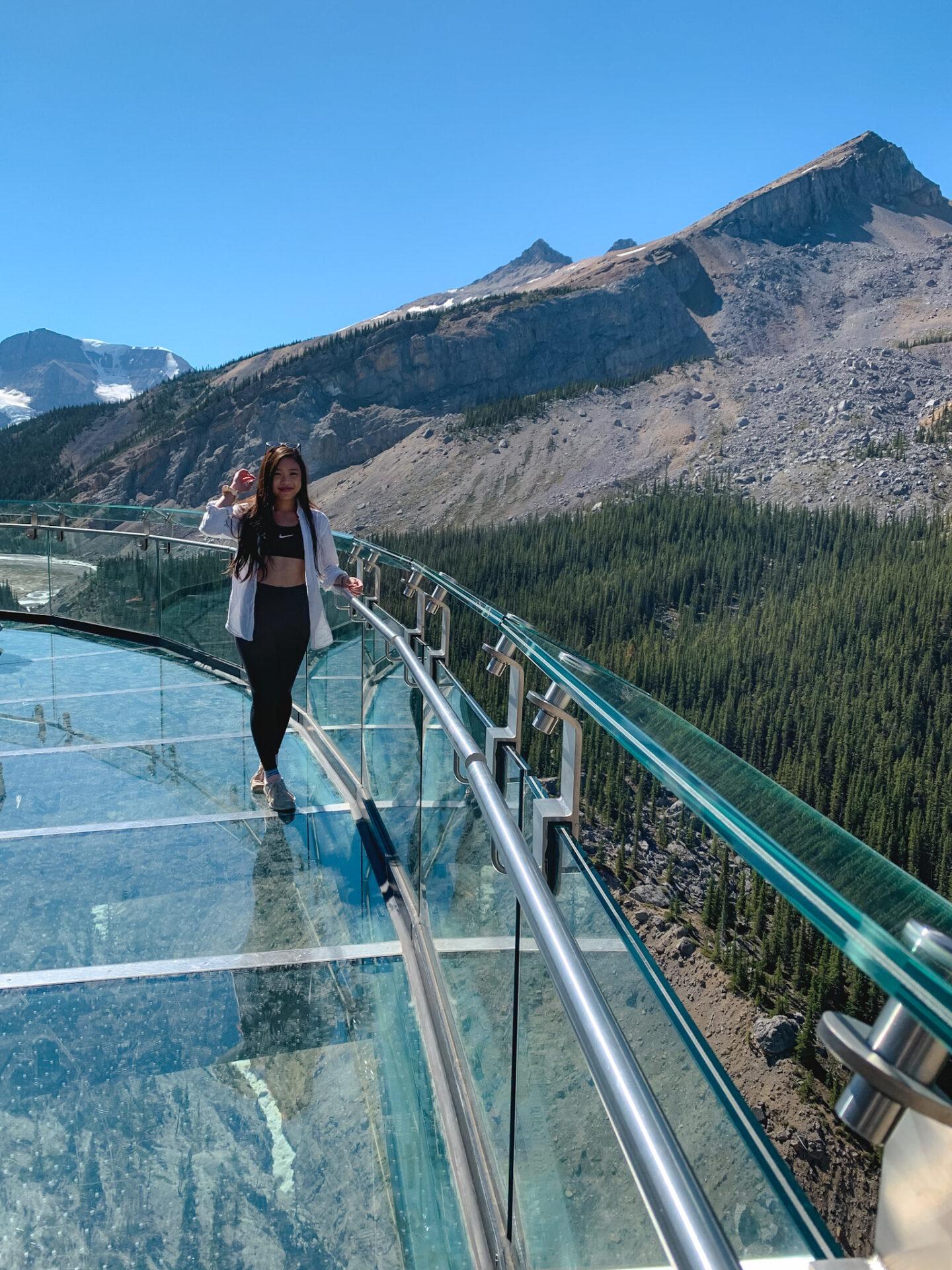 Glacier SkyWalk at Columbia Icefield Glacier Adventure in Jasper National Park, Alberta