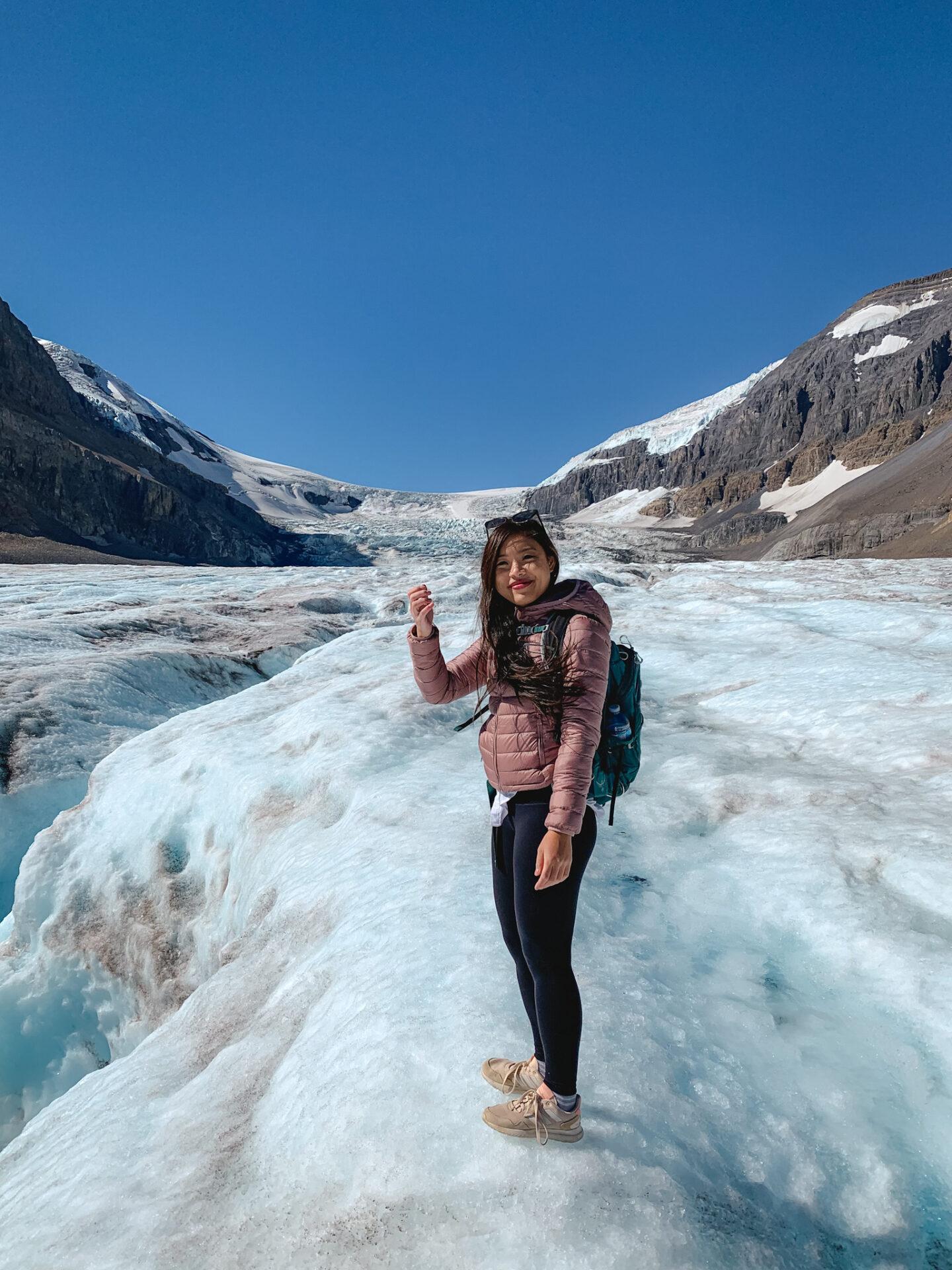Athabasca Glacier at Columbia Icefield Glacier Adventure in Jasper National Park, Alberta