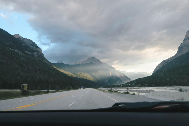 Driving in Banff, Alberta