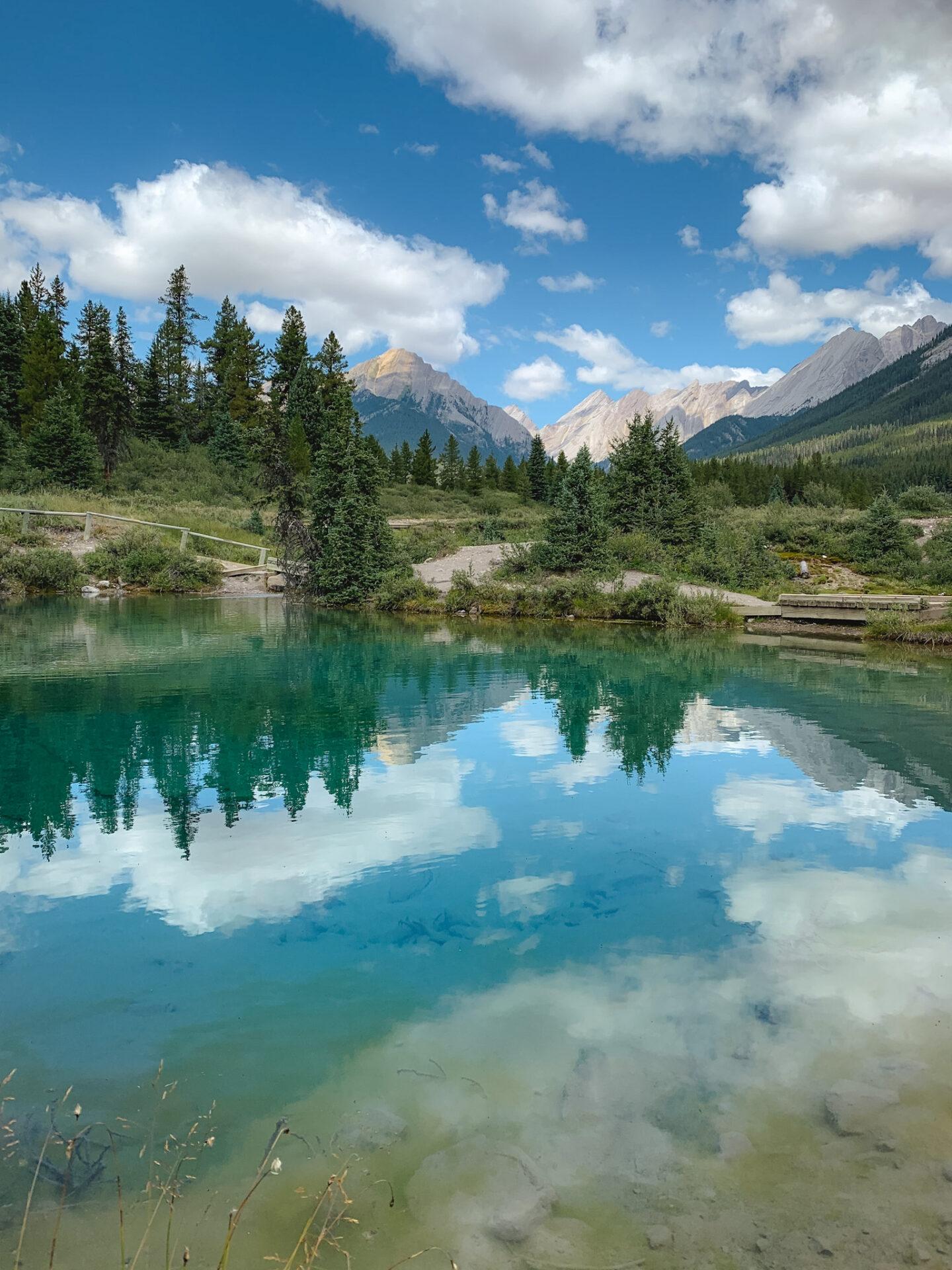 Ink Pots mineral springs in Banff, Alberta