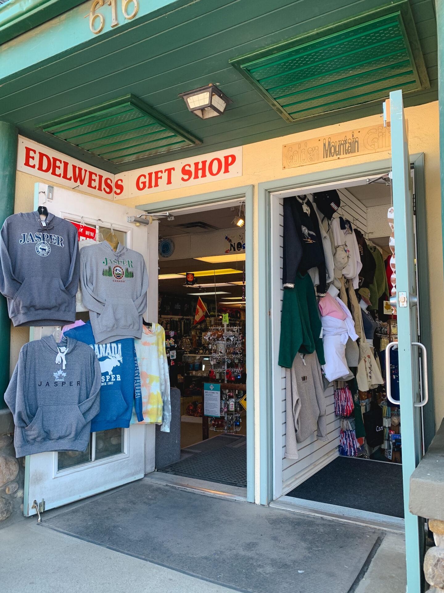 Gift shops in Jasper, Alberta