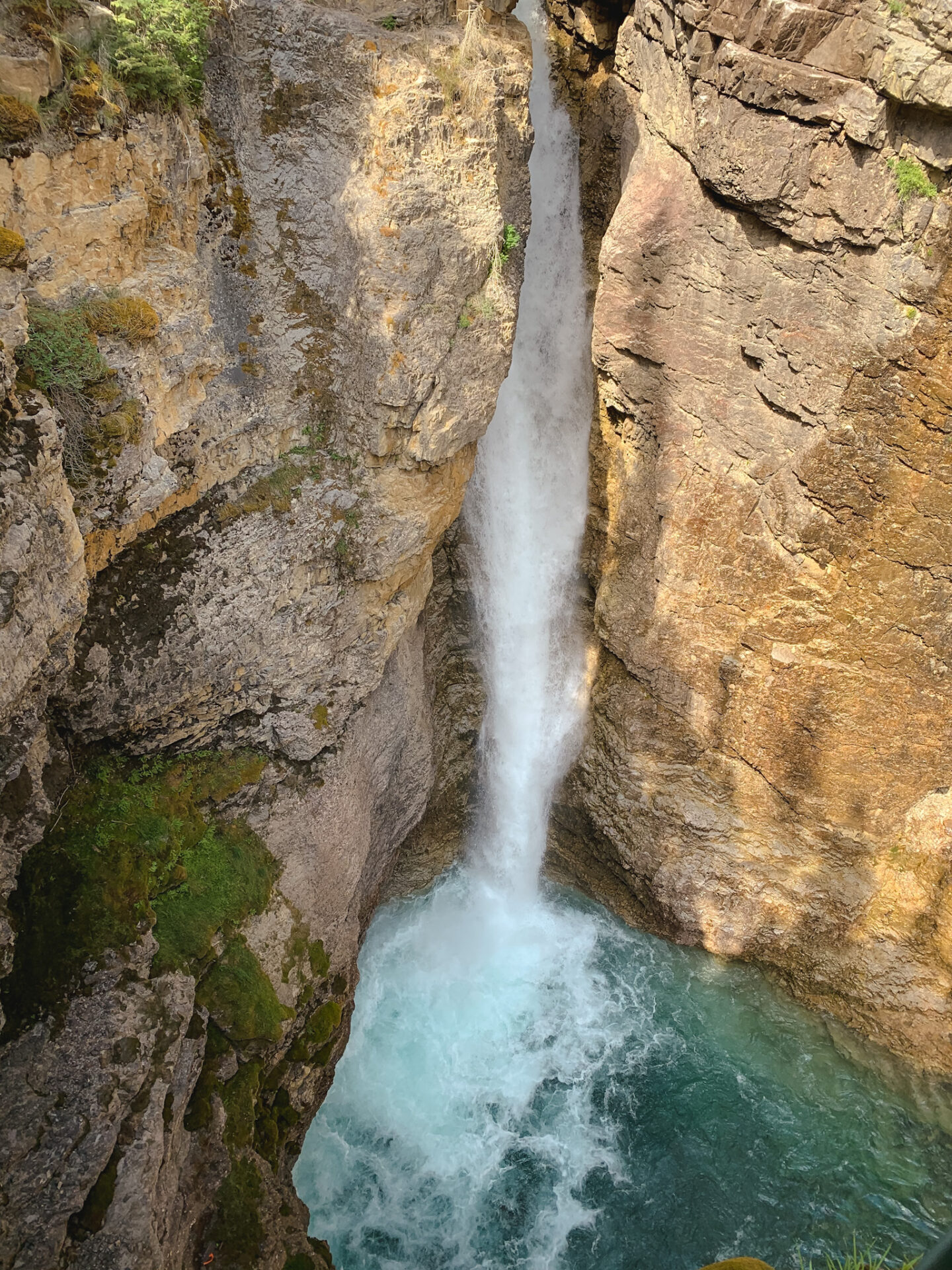 Upper Falls at Johnston Canyon in Banff, Alberta