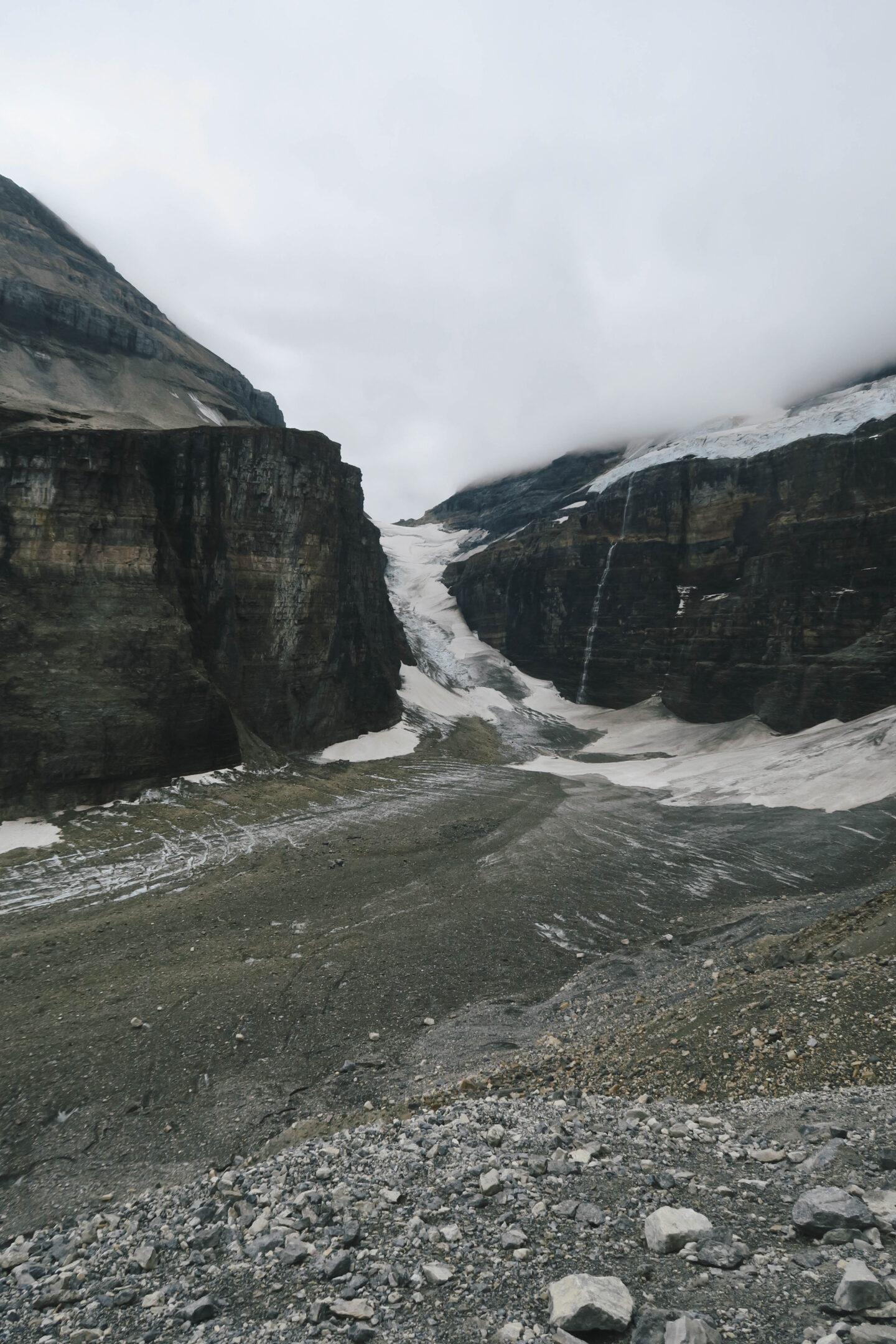 Plain of the Six Glaciers glacier viewpoint in Banff, Alberta