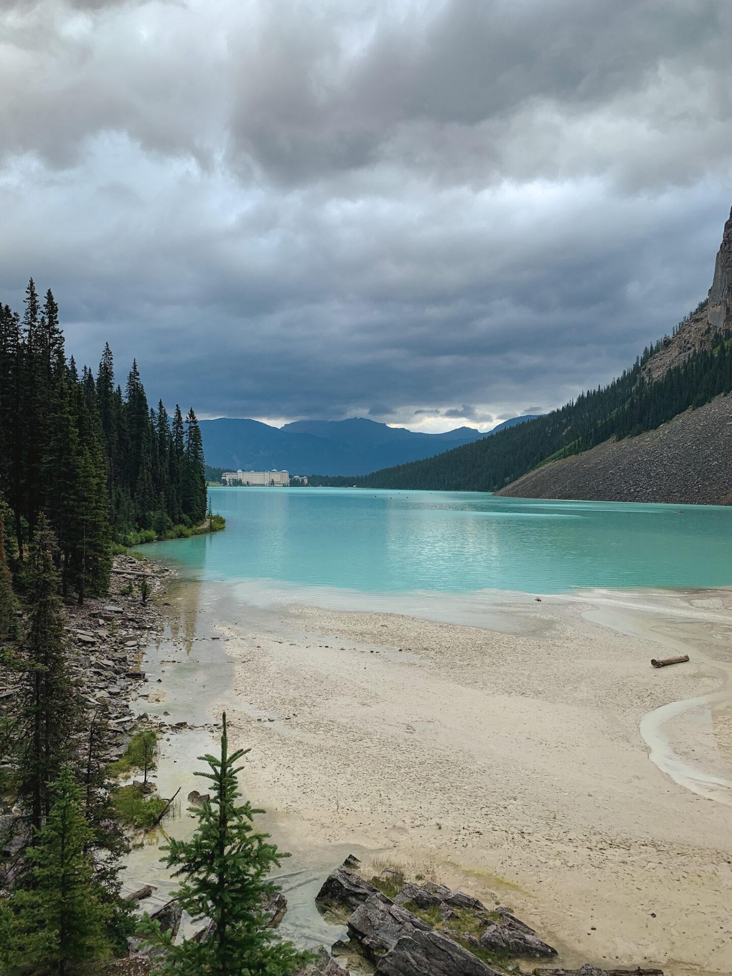 Plain of the Six Glaciers hiking trail in Lake Louise, Alberta