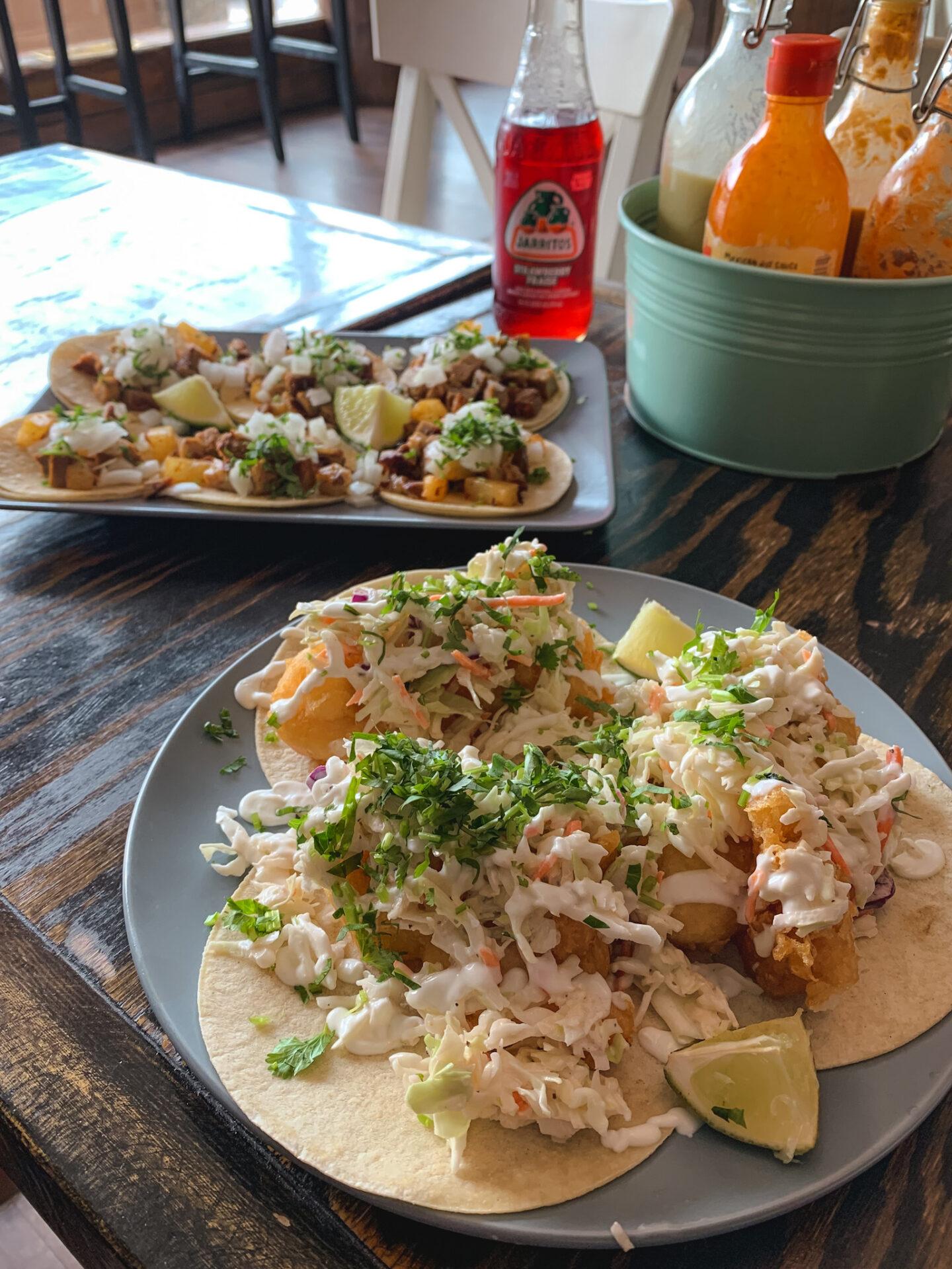 Tacos from Rojo Marrón Mexican restaurant in Hinton, Alberta