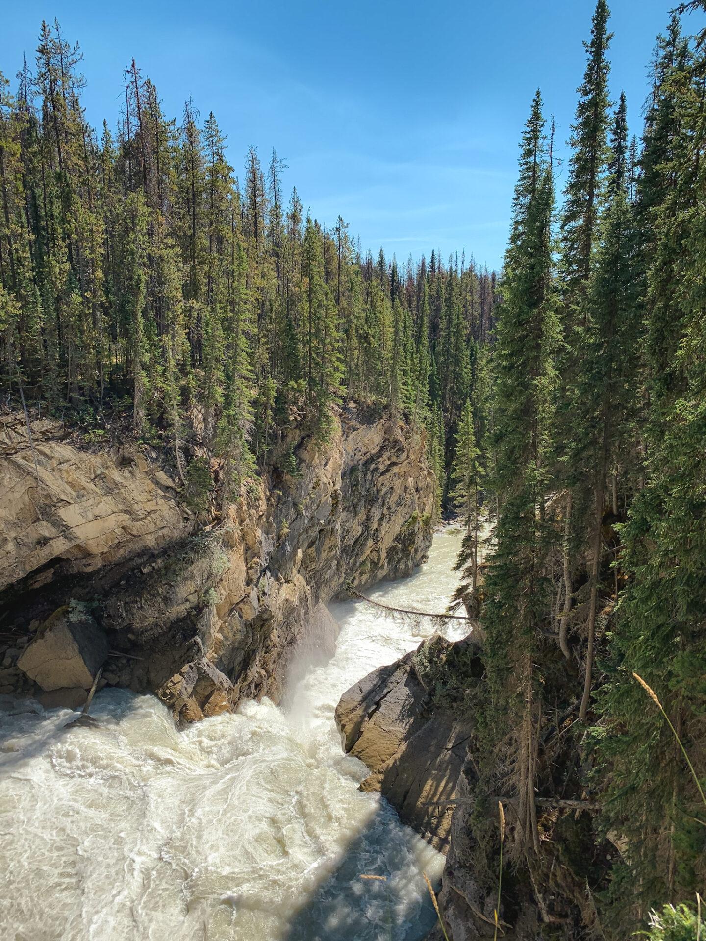 Sunwapta Falls in Jasper National Park, Alberta
